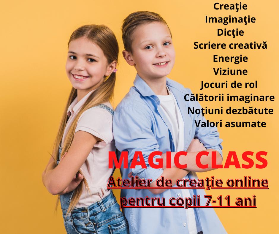 Atelier de creaţie online pentru copii 7-11 ani